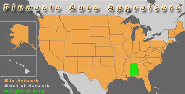 map alabama pinnacle auto appraiser appraisal dimished value